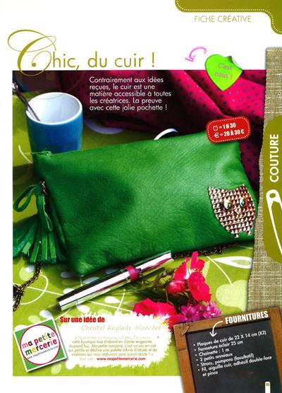 Créative - Juillet - Aôut 2012 - Chic du Cuir