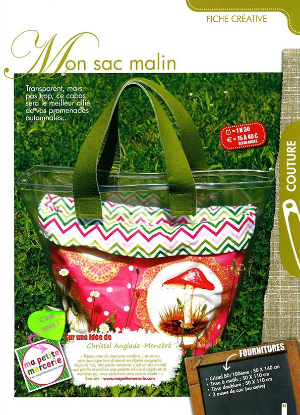 Créative - Mon Sac Malin - Septembre Ocotbre 2012
