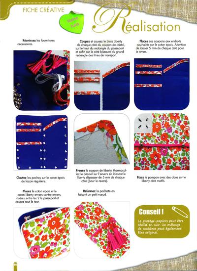 Créative - Novembre Décembre 2012 - Un abris chic pour vos papiers - Fiche créative