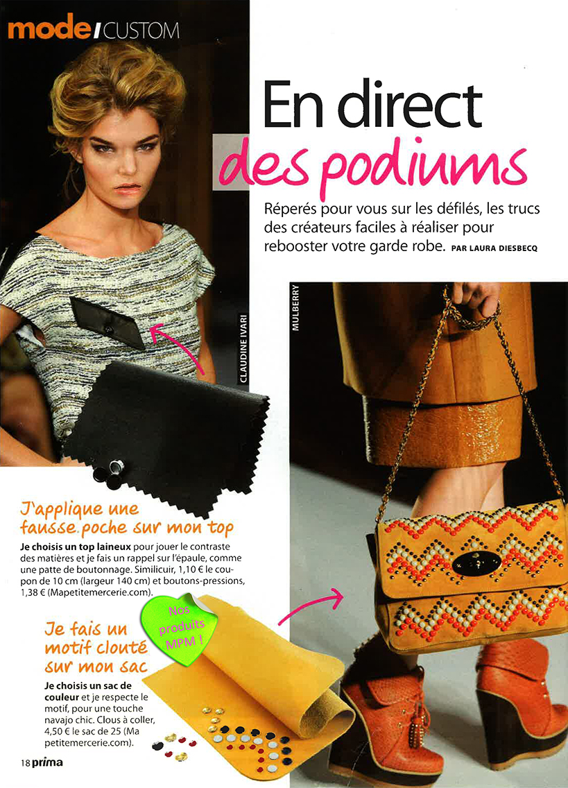 Prima- Septembre 2012 - En direct des podiums .1.
