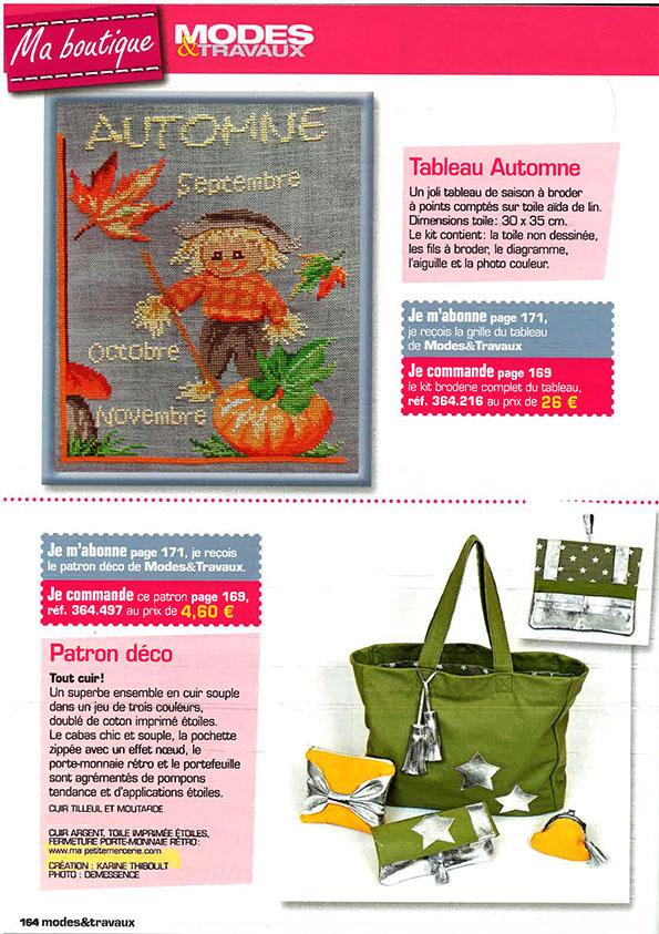 presse modes et travaux novembre 2012
