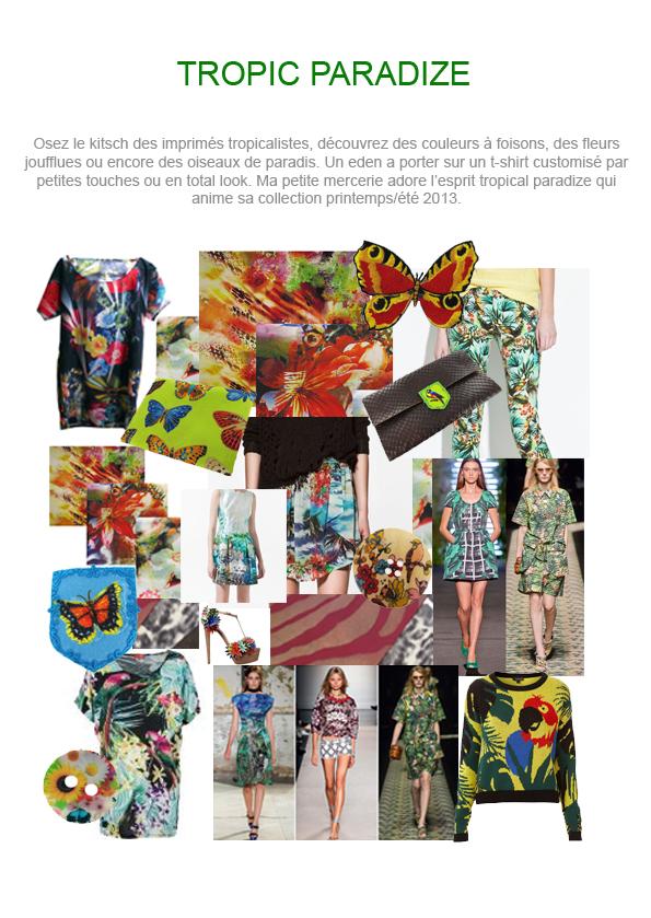 Des tissus imprimés colorés, fleuris...