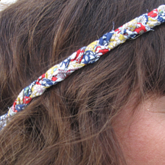 DIY headband hippie