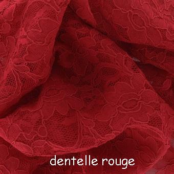 dentelle rouge manteau