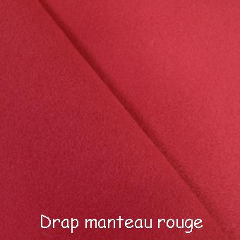 drap manteau rouge