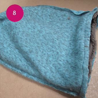 Réaliser un bonnet sans tricoter 8