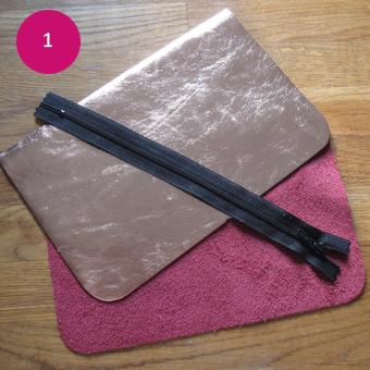 DIY pochette cuir 1