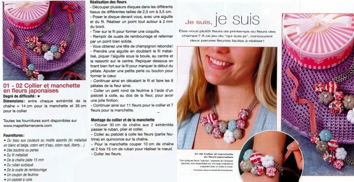 collier fleurs collage