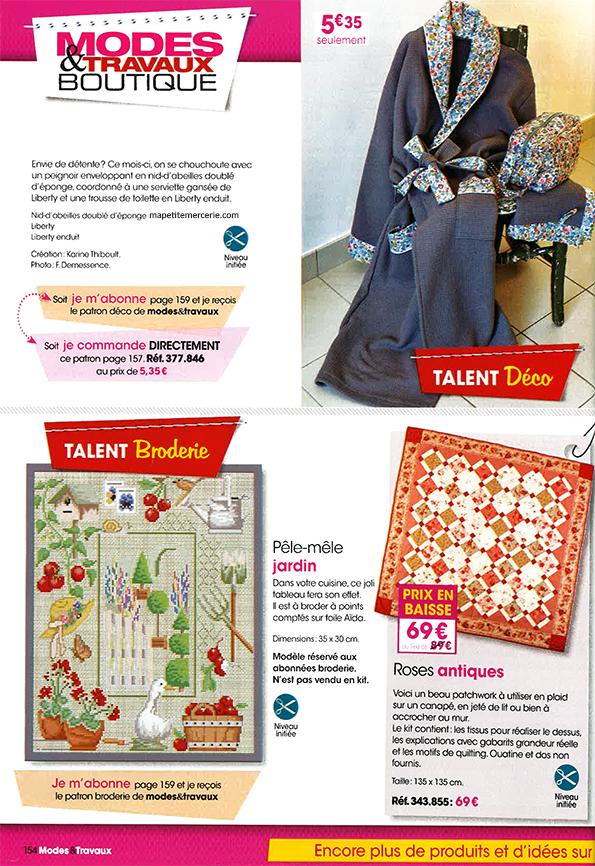 presse mode et travaux mai 2014