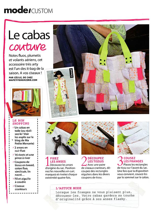 diy couture sac