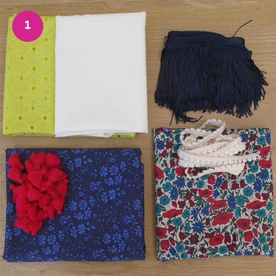 Diy foulard coupons tissus