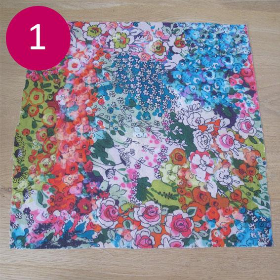 DIY coussin fleuri 1