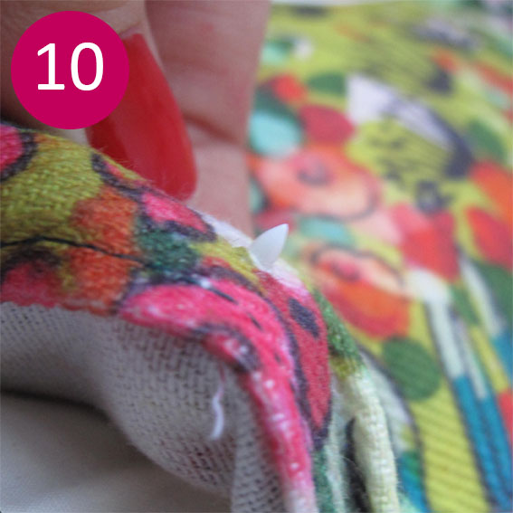 DIY coussin fleuri 10