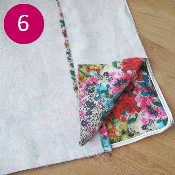 DIY coussin fleuri 6