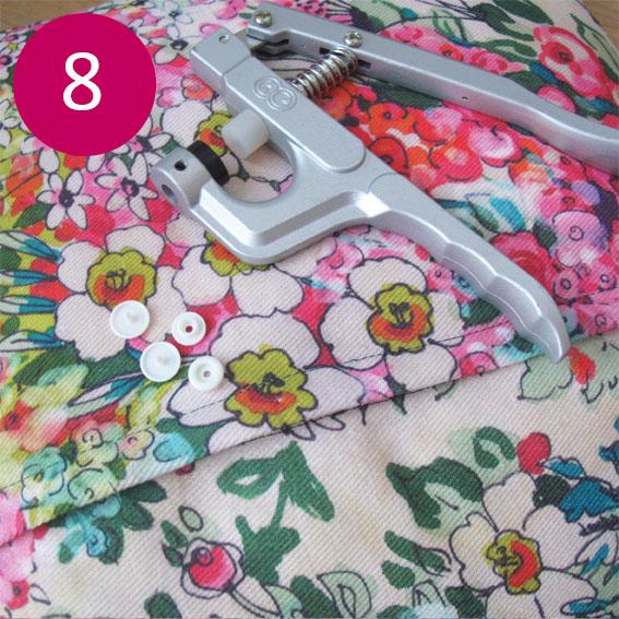 DIY coussin fleuri 8
