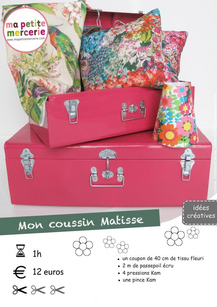 DIY : Ma jolie housse de coussin Matisse   Ma petite Mercerie, le blog