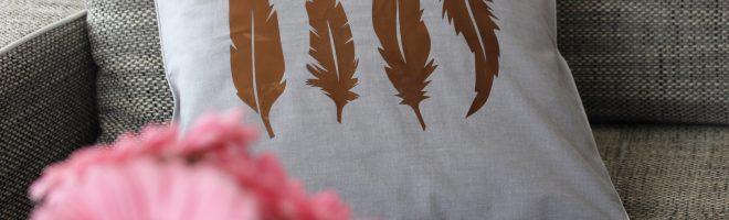 DIY : Mon coussin plumes