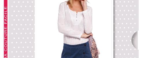 Créez votre jupe portefeuille avec la sélection de tissus Ma Petite Mercerie.