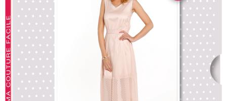 Créez votre robe Louane avec la sélection de tissus Ma Petite Mercerie.