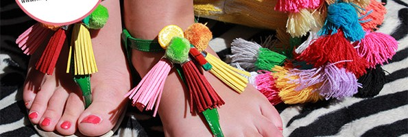 CUSTO : mes sandales «tropic»