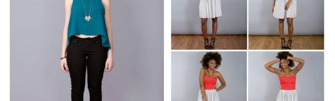 Cousu main, les créations des candidats, le livre : le crop top & la robe bustier de Laurence