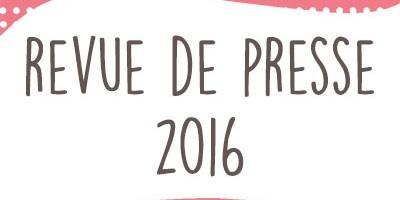Publications presse 2016 : portraits, tutoriels & produits…