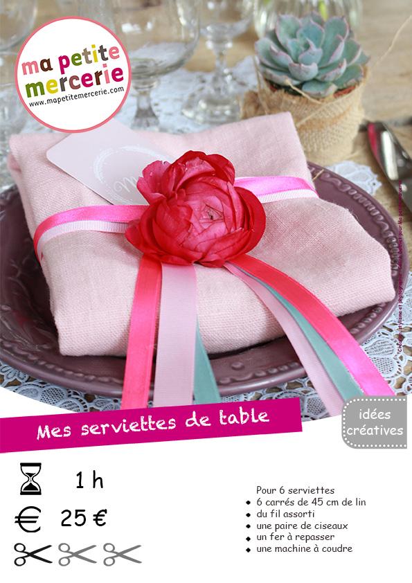 fiche technique serviettes de table