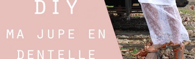 CUSTO : ma jupe en dentelle