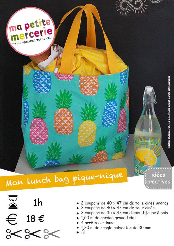 fiche technique lunch bag