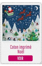 coton imprimé noel