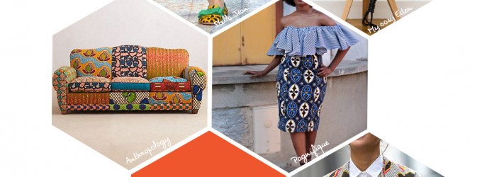 Une jolie sélection de nos inspirations Wax, pour créer les accessoires tendances et vêtements en wax coloré