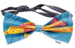 Idée de création à l'aide de tissu wax. Le noeud de cravate par le site maïssa, le pagne en mode