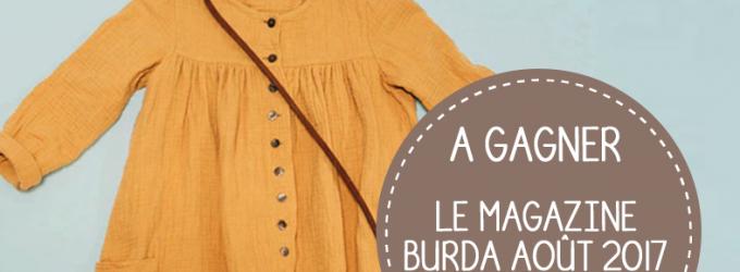 Jeu concours Burda Style du mois d'août 2017 !