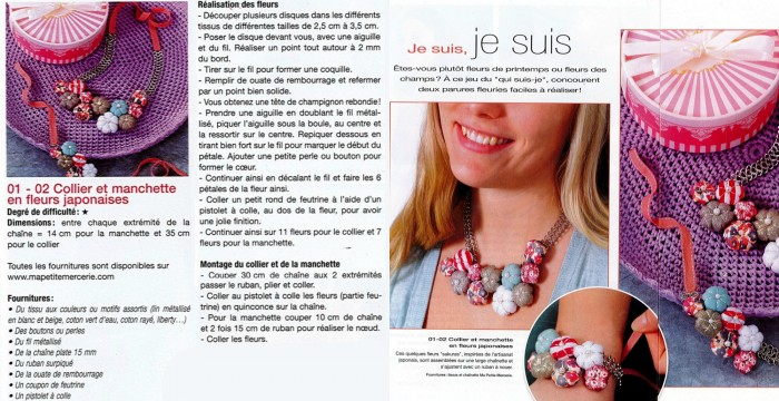 collier fleurs collage