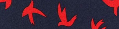 tissu-crepe-birdy-rouge-sur-marine-x-10cm
