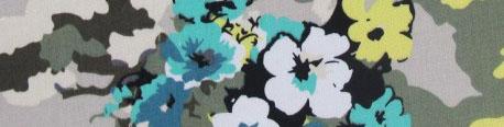 tissu-gabardine-lycra-fleurs-abstraites-kaki-x-10cm