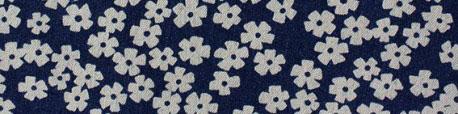 tissu-jeans-jolies-fleurs-bleu-fonce-x-10cm