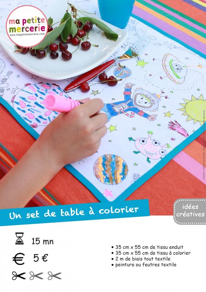 fiche set de table à colorier