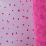 tulle-souple-floque-etoile-barbapapa-sur-fluo-rose-x10cm