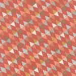 tissu-persimmon-triangle-corail-x-10cm