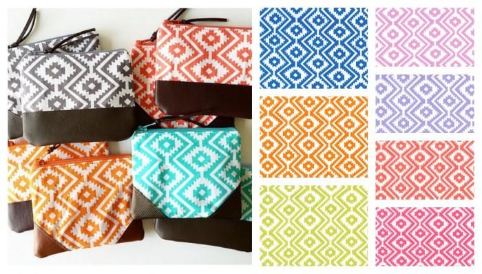 tissu eduardo motif ethnique coloré en sept coloris disponibles