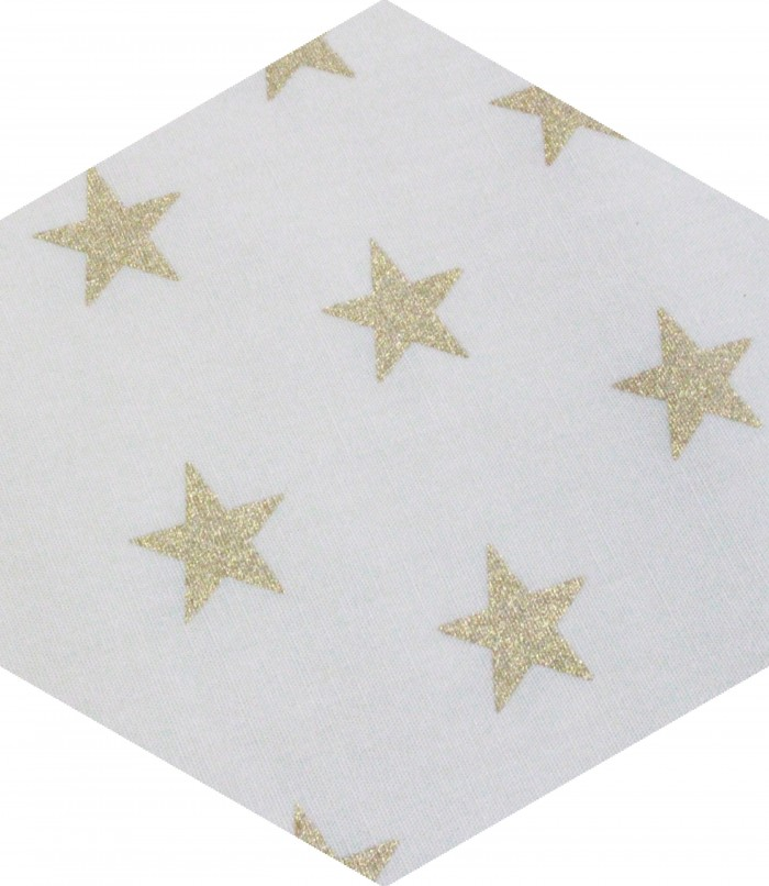 grandes étoiles sur fond écru