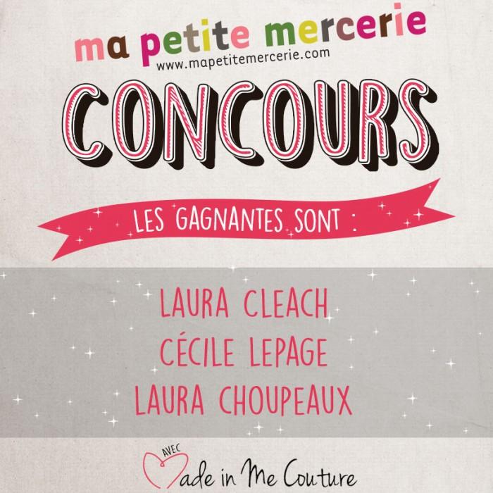 Resultats Du Jeu Concours Made In Me Couture Ma Petite Mercerie Le Blog