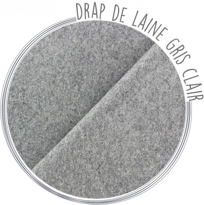 drap de laine gris