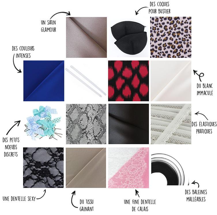 matières et accessoires cousu main