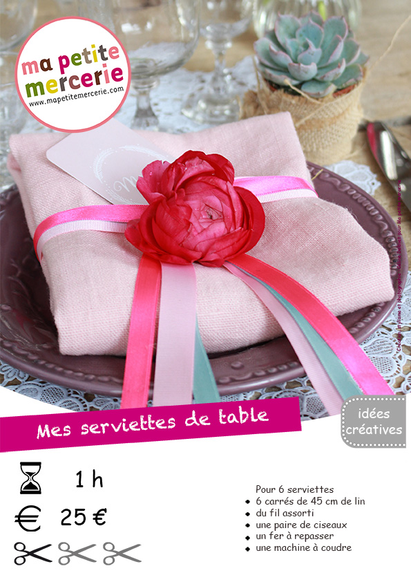 fiche technique serviettes de table