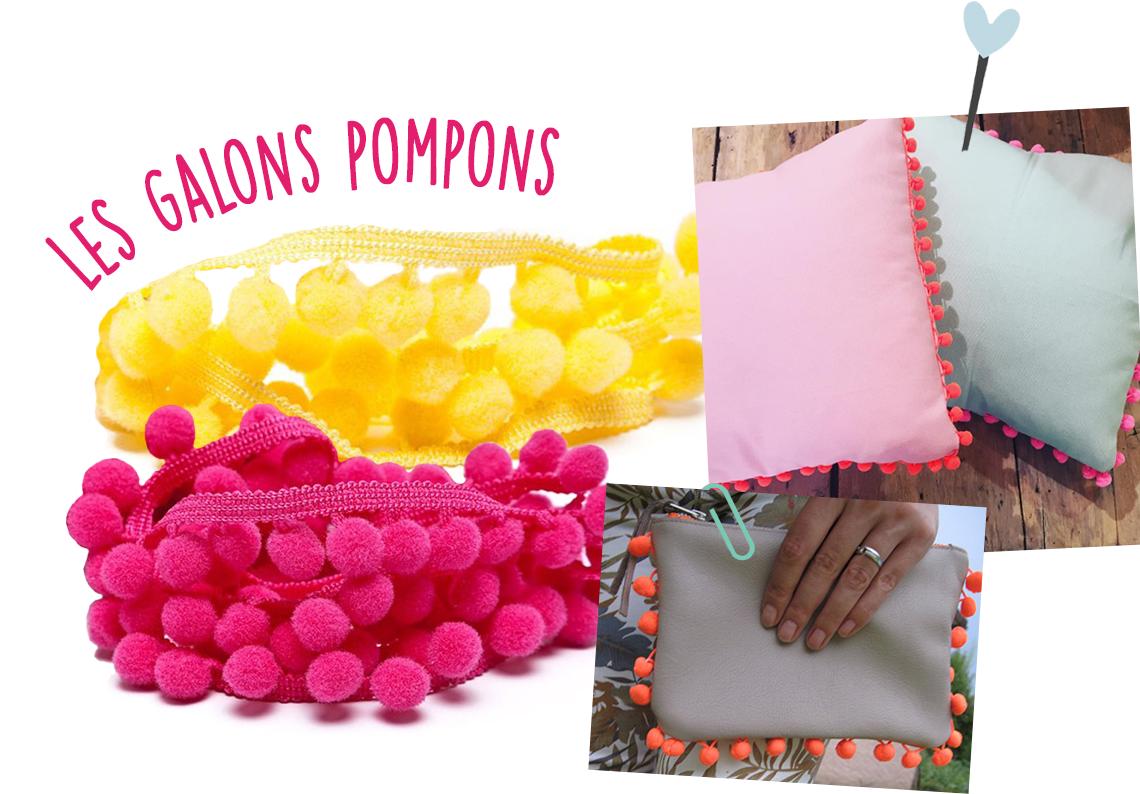 galon pompons