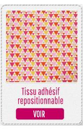 tissu adhésif repositionnable