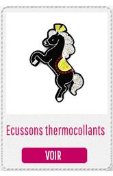 Nouveaux ecussons thermocollants