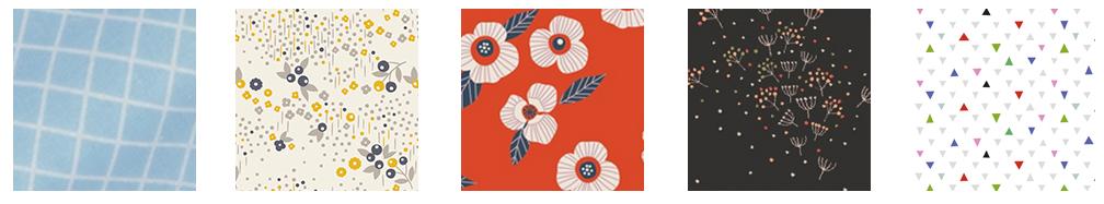 Collaboration Mini Labo et Fifi Mandirac avec les tissus Atelier Brunette
